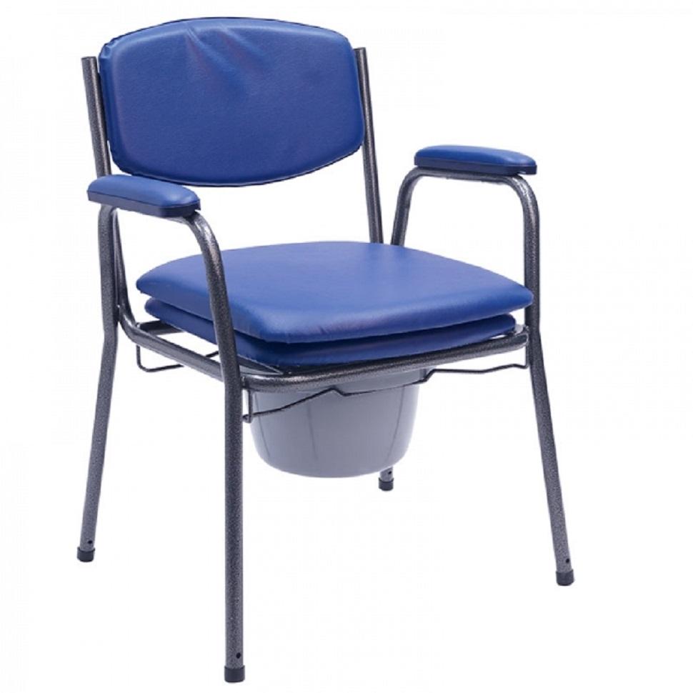 silla inodoro azul